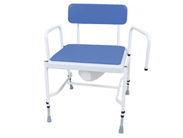 YESS Bariatric Adjustable Height & Detachable Arms Commode