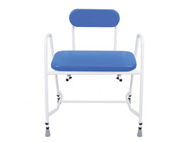 YESS Bariatric Perching Stool with Arms & Padded Back