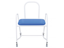 YESS Bariatric Perching Stool with Steel Arms & Back