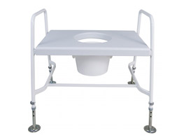 YESS Bariatric Raised Toilet Seat with Floor Fixing Feet