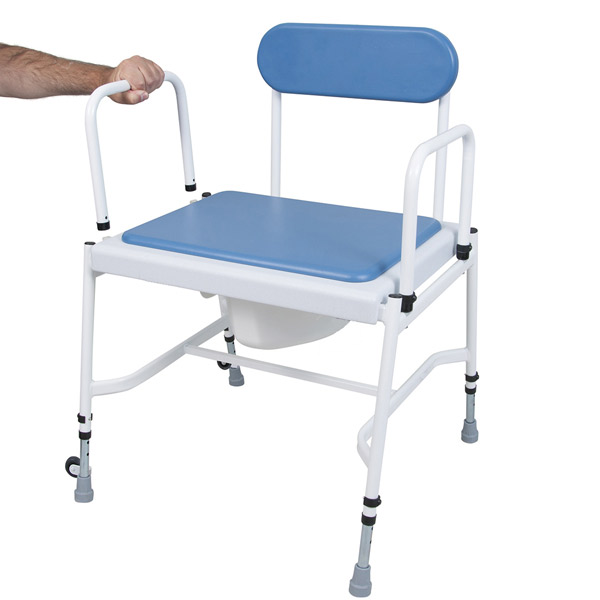 """YESS Mediatricâ""""¢Adjustable Height & Detachable Arms Commode"""