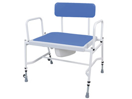 YESS Super Bariatric Adjustable Height & Detachable Arms Commode