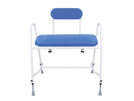 YESS Super Bariatric Perching Stool with Arms & Padded Back