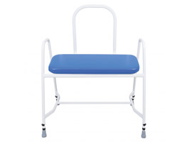 YESS Super Bariatric Perching Stool with Steel Back & Arms