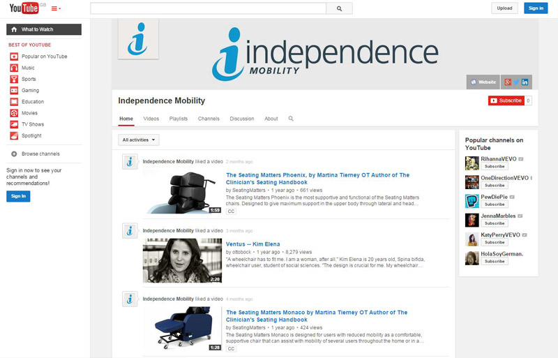 Independence Mobility YouTube Channel