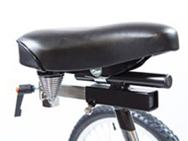 Seat Post with Trunk Support Mount & Saddle